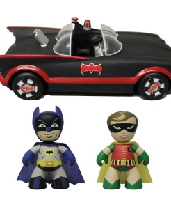 1966 Batman – Batman and Robin Mezits Figures with Batmobile