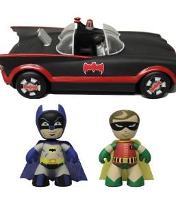 1966 Batman – Batman and Robin Mezits Figures with Batmobile